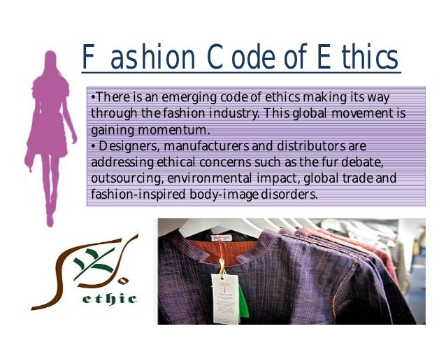 Code of ethics for fashion industry