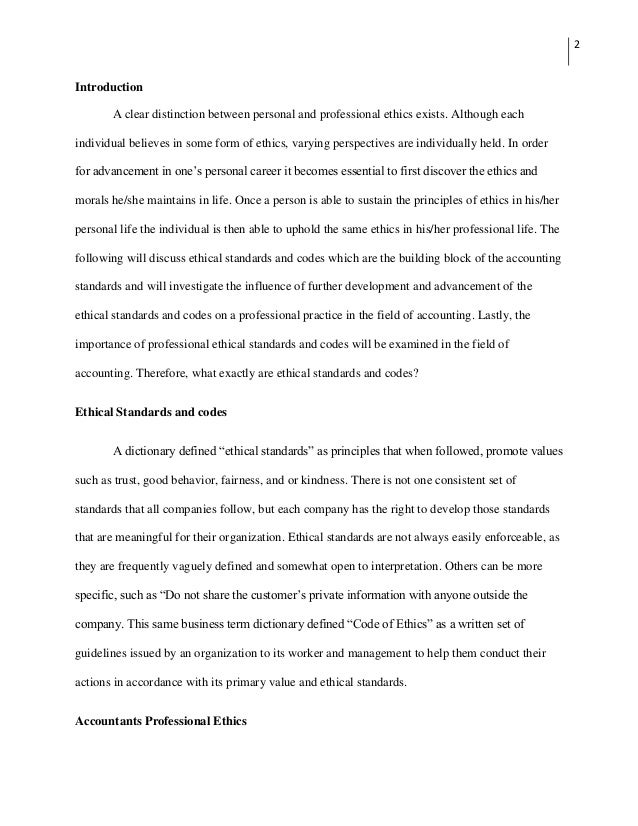 Science And Technology Essay Topics Personal Ethics Essay Code Of Ethics For Accountants Personal Ethics  Ethics  Essay Examples Apa Format Essay Paper also Essay Writing Business Ethics Essay Examples  Underfontanacountryinncom English Essay Topics