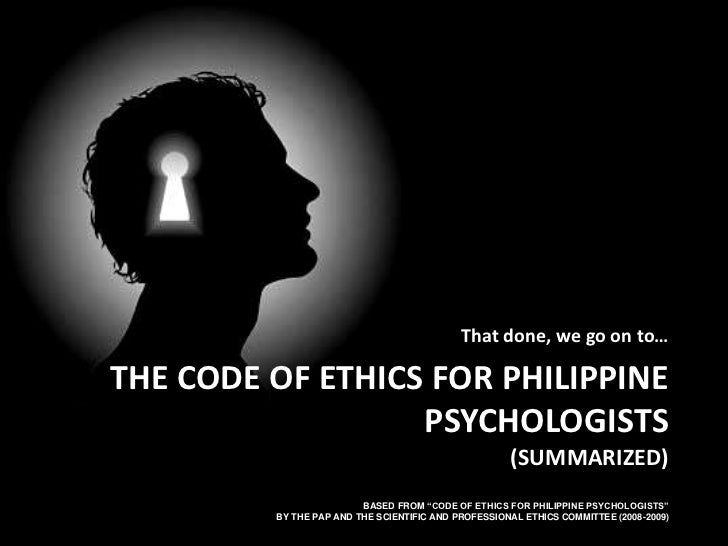 Philippine code of ethics for radiologic