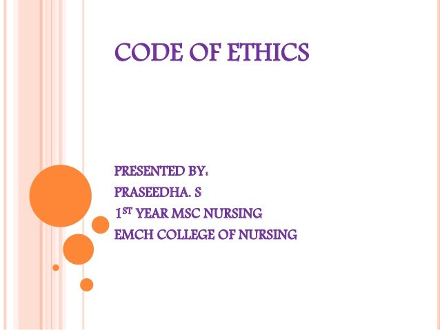 Code of ethics ppt