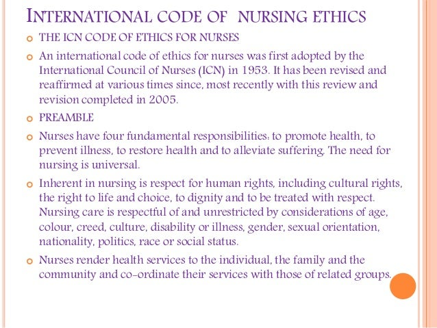 code of ethics for nursing