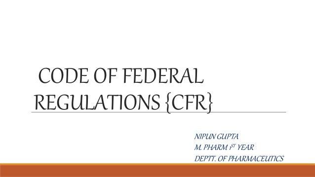 Code Of Federal Regulations Screenshot Thumbnail