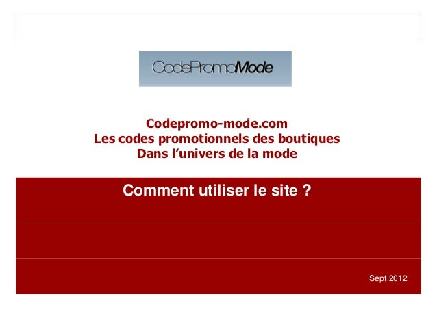Cliquez et modifiez le titre                      Codepromo-mode.com                      C d             d              L...
