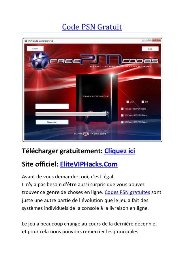 Code PSN Gratuit Télécharger gratuitement: Cliquez ici Site officiel: EliteVIPHacks.Com Avant de vous demander, oui, c'est...