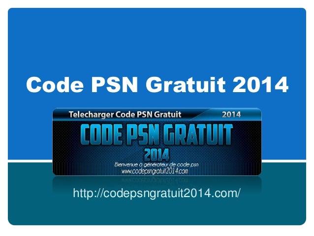 Code PSN Gratuit 2014 http://codepsngratuit2014.com/