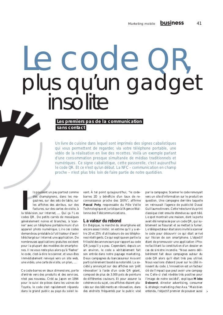 Marketing mobile                                       41Le code QR,plus qu'un gadget   insolite                          ...