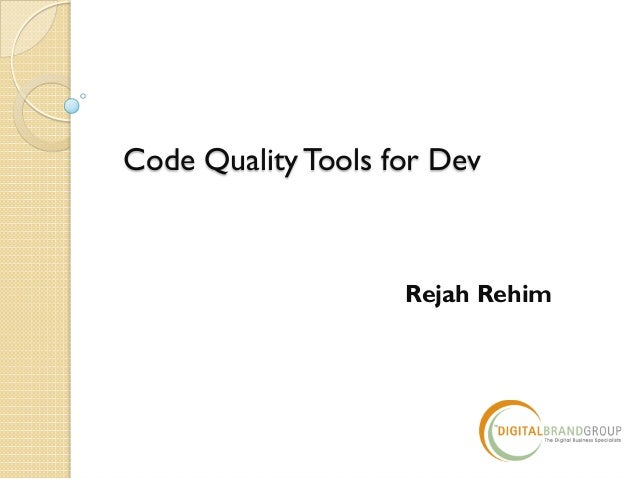 Code Quality Tools for Dev Rejah Rehim
