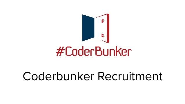 Coderbunker Recruitment