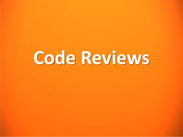 Code Reviews