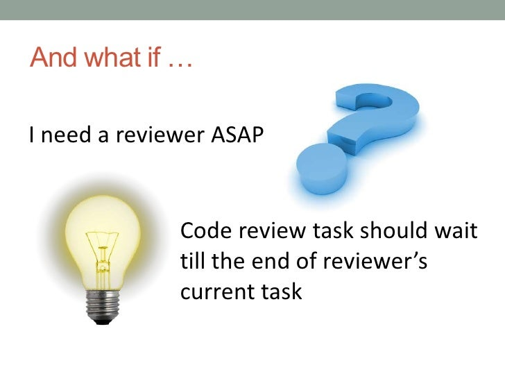 Comfortable conditions for reviewers<br />