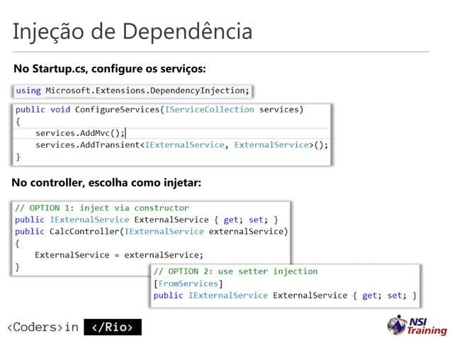 Referências Portal central dot.net Documentação ASP.NET docs.asp.net Tudo open source no Github – Github.com/dotnet – Gith...