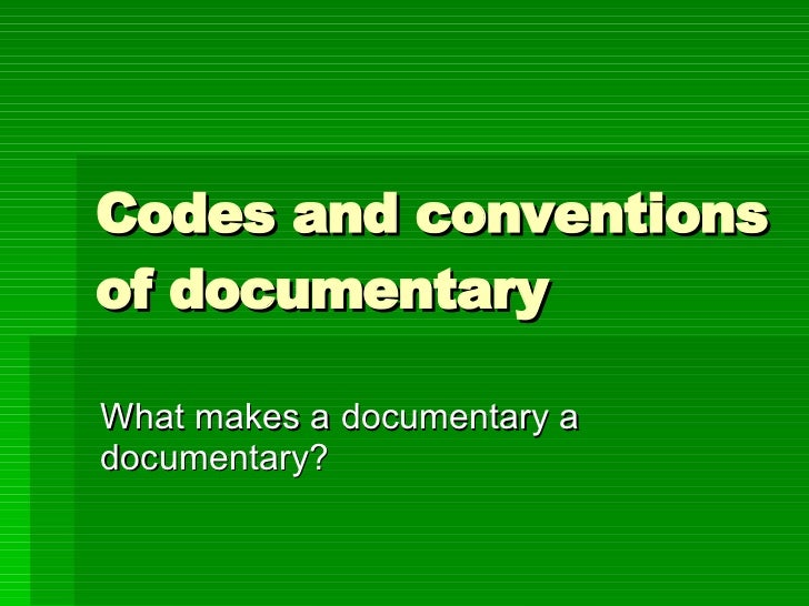 Image result for generic conventions in documentaries