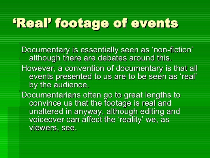 Documentary Codes & Conventions