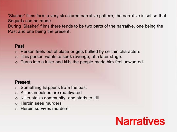 Codes & Conventions of Slasher Films