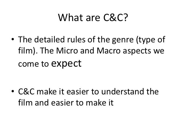 Codes and conventions Slide 2