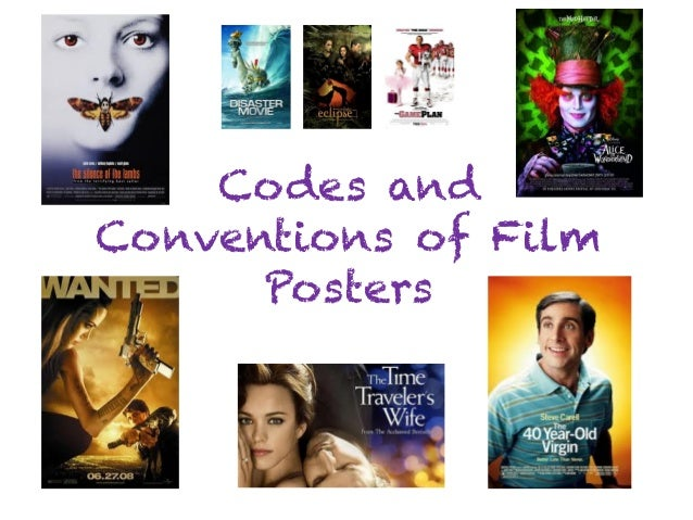 Codes and Conventions of Film Posters