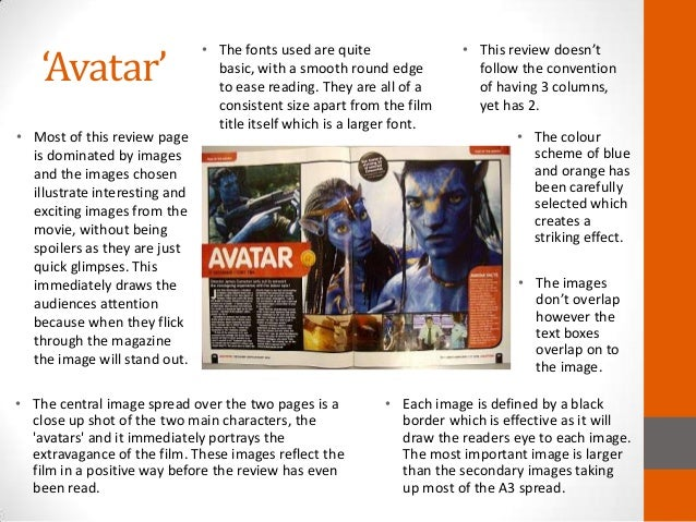 codes and conventions of film review pages  avatar •