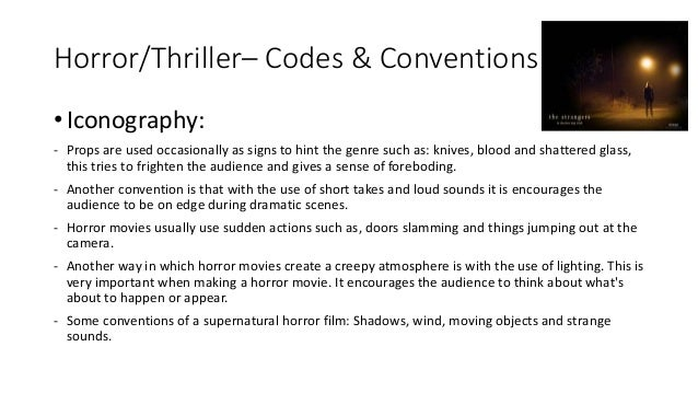 crime genre codes and conventions definition