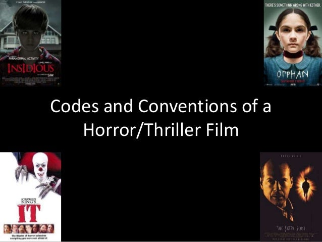 Codes and Conventions of a Horror/Thriller Film