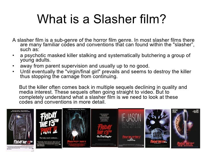 the slasher film is a sub genre Horror subgenres fiction genre definitions horror subgenres  stephen king's short story and film children of the corn are straightforward examples.