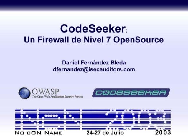 CodeSeeker – Un Firewall de Nivel 7 OpenSource