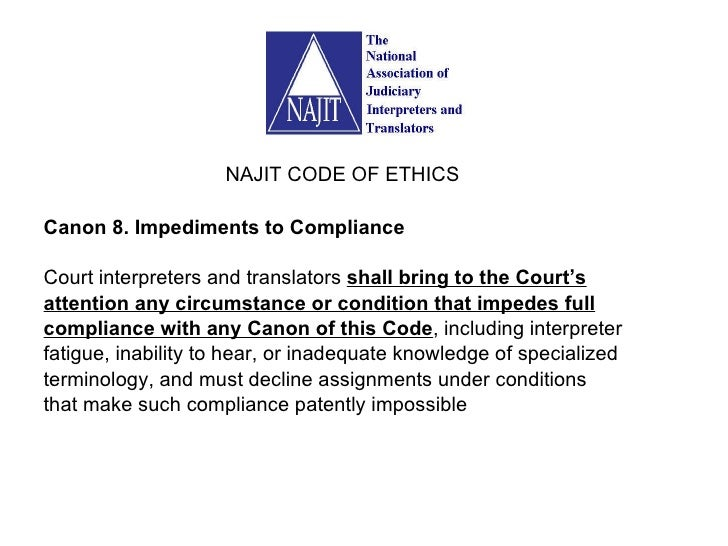 Code of ethics for interpreters essay writer