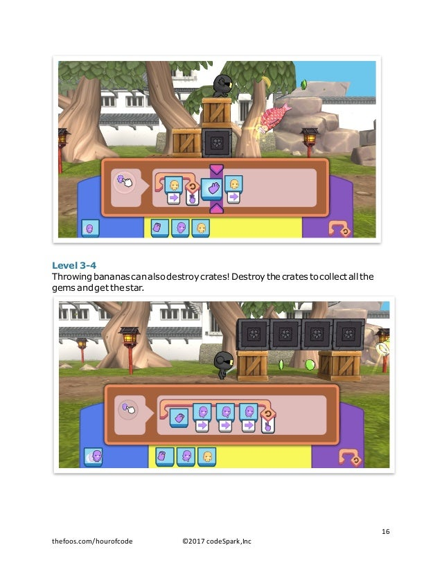 Level 3-4 Throwing bananas can also destroy crates! Destroy the crates to collect all the gems and get the star. 16 thefo...