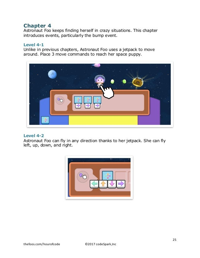 Chapter 4 Astronaut Foo keeps finding herself in crazy situations. This chapter introduces events, particularly the bump e...