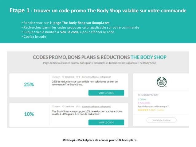 Codes promo the body shop mode d'emploi Slide 2