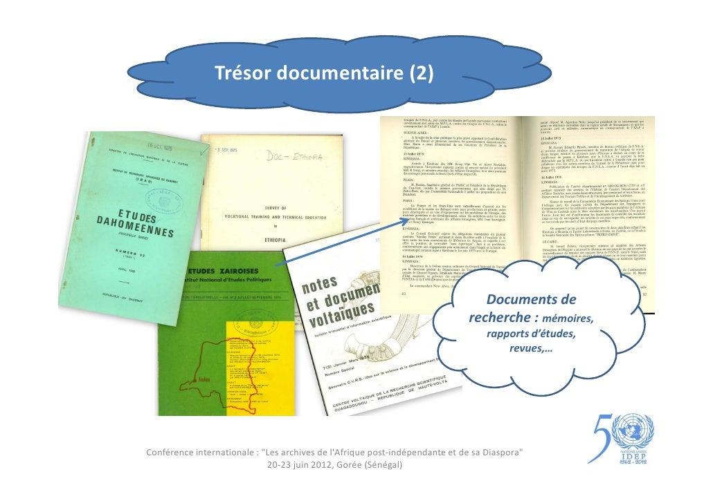 Trésor documentaire (2)                                                                                Documents de       ...