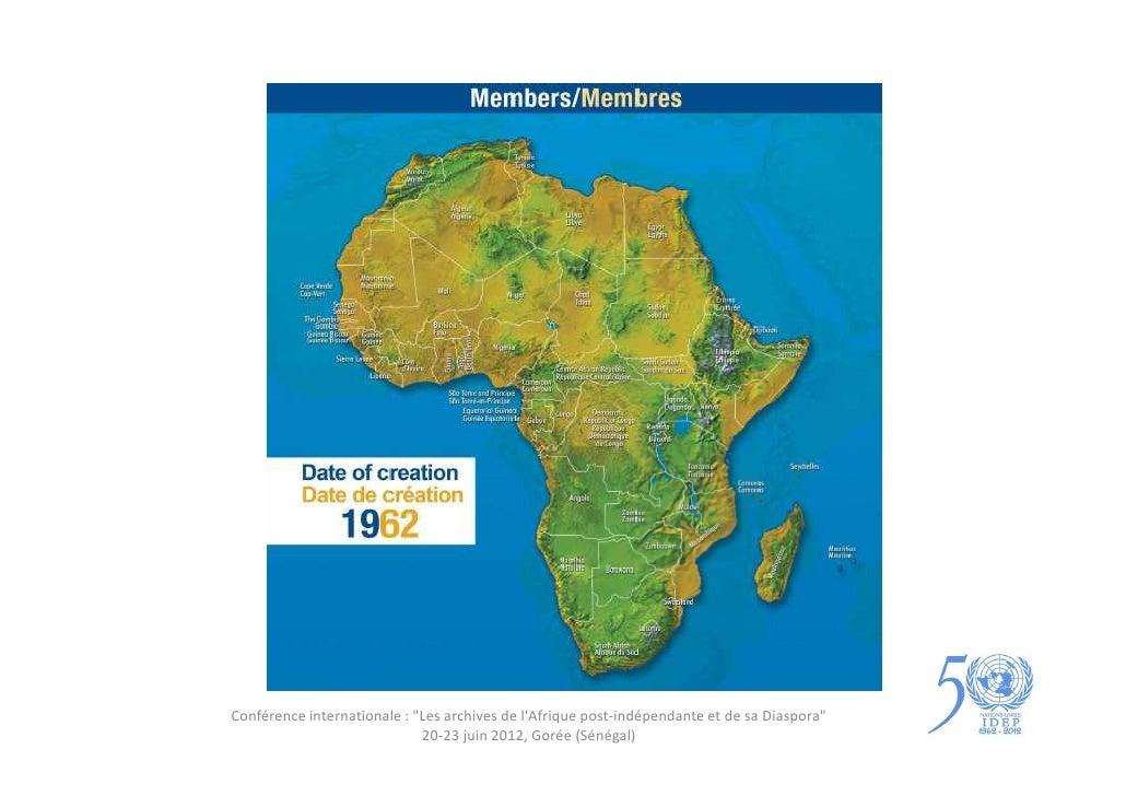 """Conférence internationale : """"Les archives de lAfrique post-indépendante et de sa Diaspora""""                             20-..."""