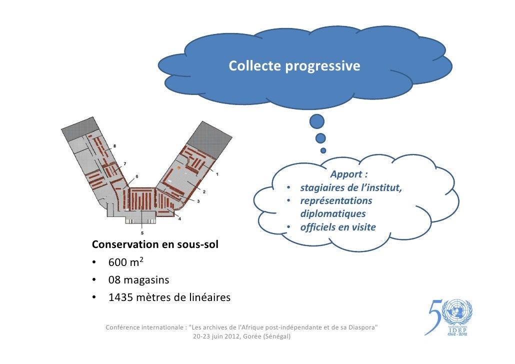 Collecte progressive                                                                        Apport :                      ...