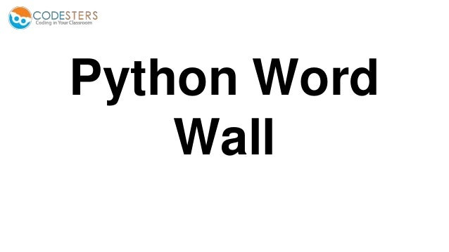 Python Word Wall