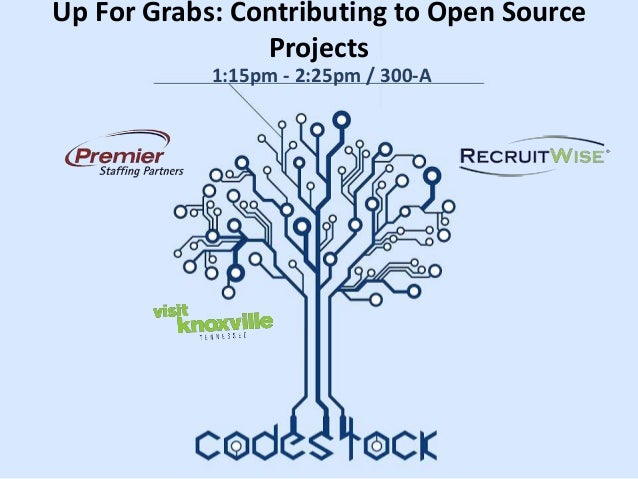 Up For Grabs: Contributing to Open Source Projects 1:15pm - 2:25pm / 300-A