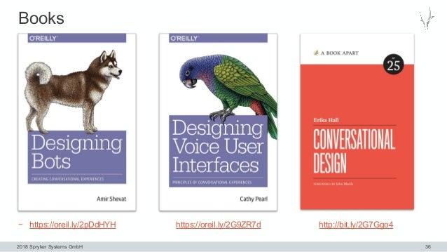 2018 Spryker Systems GmbH Books 36 − https://oreil.ly/2pDdHYH https://oreil.ly/2G9ZR7d http://bit.ly/2G7Ggo4