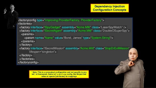 """ninject.org DI """"gateway drug"""" Light weight / super fast to configure DI (Integrates with Castle for IoC / AOP) .NET Silver..."""