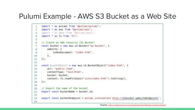 Pulumi Example - Kubernetes Deployment Source: https://github.com/pulumi/examples/tree/master/kubernetes-ts-exposed-deploy...