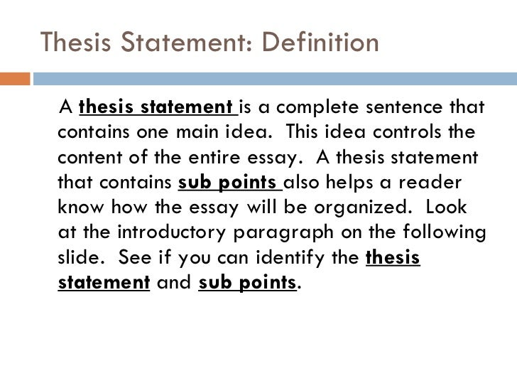 thesis statements to complete Exercise 4: choose the best research thesis the exercises below are designed to improve your ability to select a good research thesis choose the best working thesis among each set for the proposed research paper.
