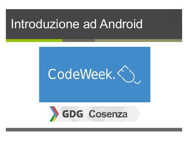 ì Introduzione ad Android