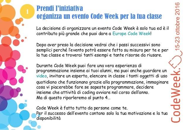 Come partecipare a Code Week - Guida per insegnanti Slide 3