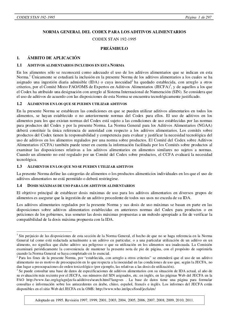 CODEX STAN 192-1995                                                                                        Página 1 de 297...