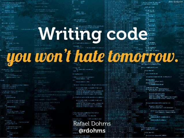 Writing code 