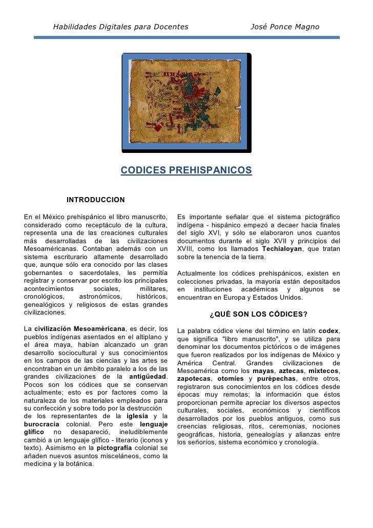Habilidades Digitales para Docentes                               José Ponce Magno                                 CODICES...