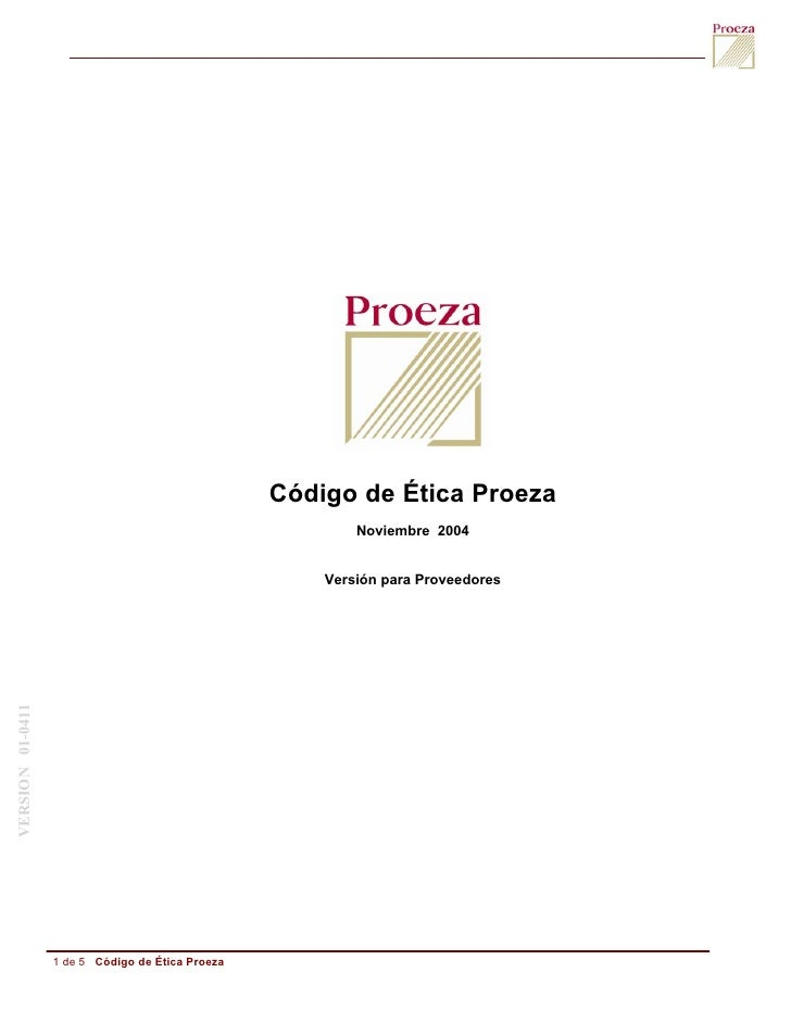 Código de Ética Proeza                                                           Noviembre 2004                           ...