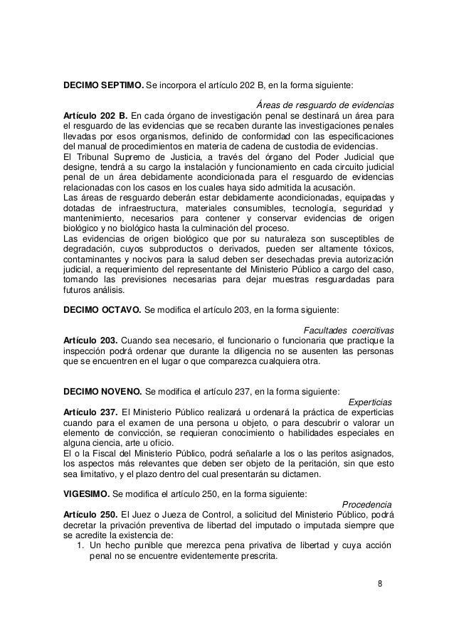 Circuito Judicial Penal : Codigo procesal penal modificacion de los articulos