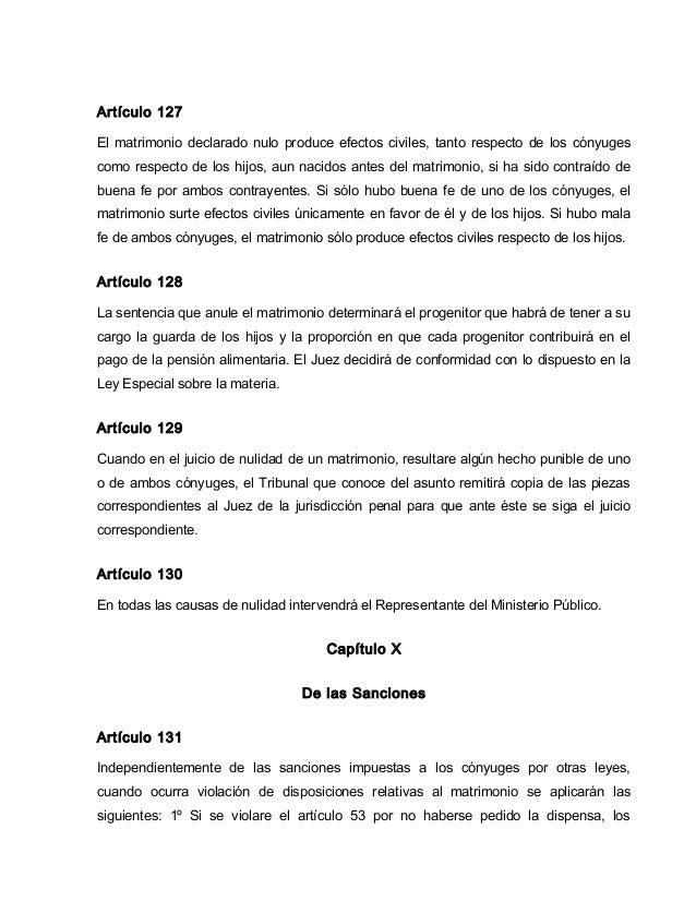 El Matrimonio Catolico Que Efectos Produce : Codigo civil de venezuela actual