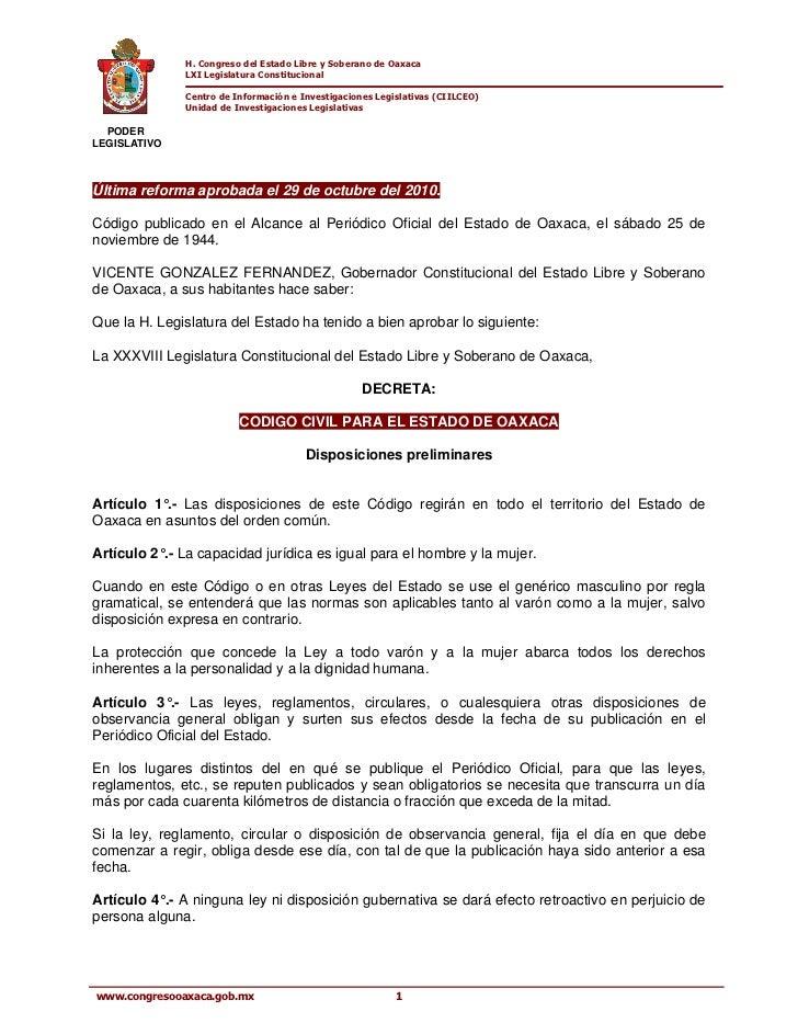 H. Congreso del Estado Libre y Soberano de Oaxaca              LXI Legislatura Constitucional              Centro de Infor...