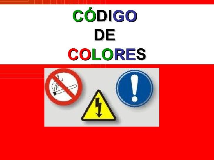 CÓDIGO  DECOLORES