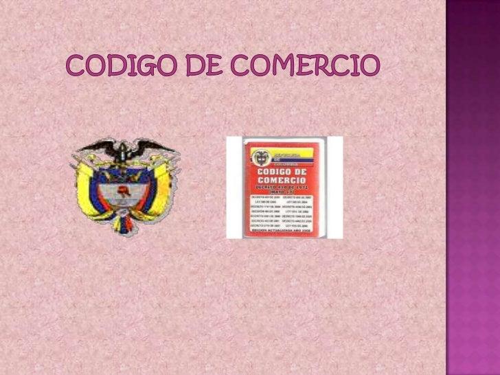 CODIGO DE COMERCIO<br />