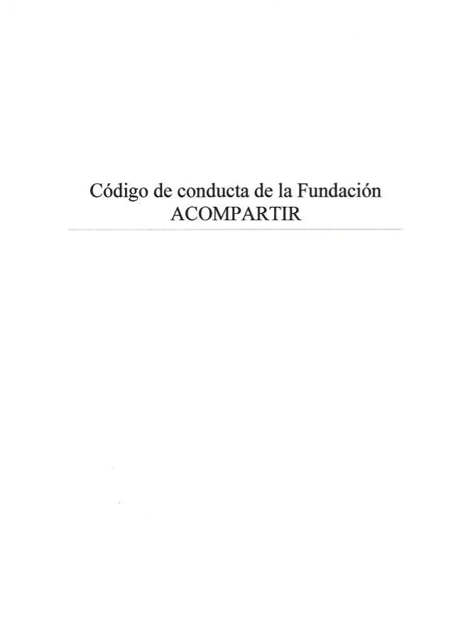 Código de conducta ACOMPARTIR